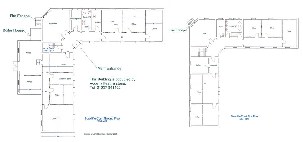 Bowcliffe Court Plans